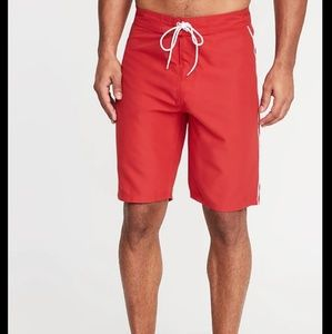 NEW red board shorts swimtrunk size 38 unlined